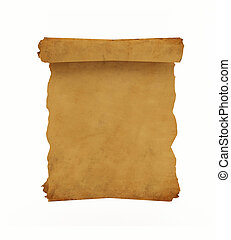 Old manuscript - 3D rendering of an old manuscript or...