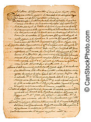manuscript - Old manuscript isolated on white