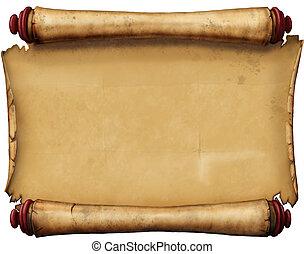 Old Manuscript. Photoshop. Genius Tablet