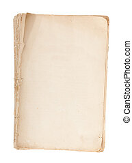 Old manuscript with copy space isolated on white background