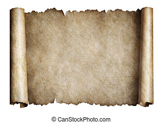 Old manusript scroll or parchment - Old parchment scroll...