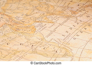 old map background. beige and brown color.