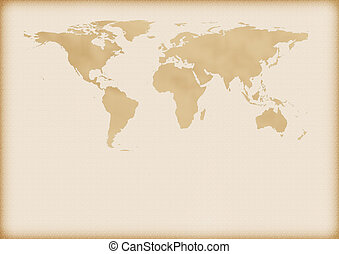 Old map of world