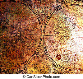 Old map on rusty metal