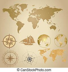 Old map set