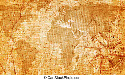 Old map on vintage background