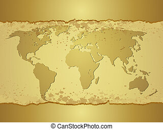 Old map. Vector background. Grunge topography illustration.