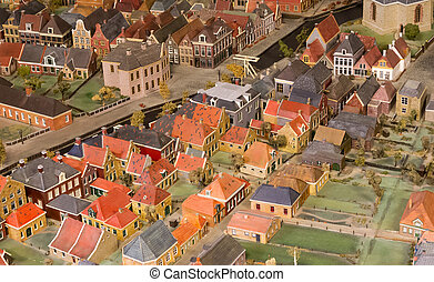 Old maquette of a village - The Netherlands