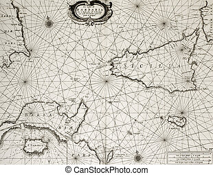 North Africa coast and South Mediterranean - Old maritime ...