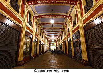 old market empty Hall