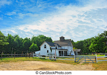 Old Maryland horse stable