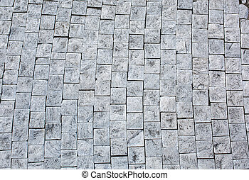 Old masonry on the floor in Prague, Czech Republic