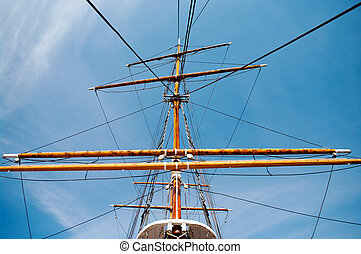 Old mast of a ship