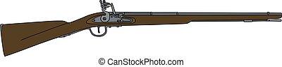 Old matchlock rifle