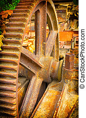 old mechanical gears