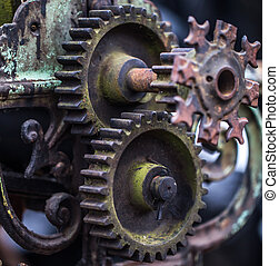 old mechanical parts