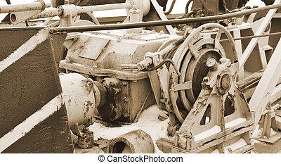 Old mechanism. sepia.