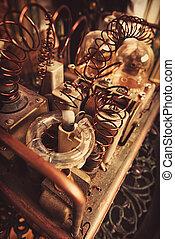 old mechanism - Close-up shot of a steampunk mechanism....