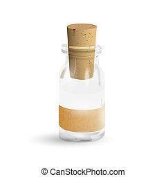 Old medication bottle. Vector EPS10