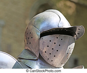 old medieval helmet of a soldier of the king
