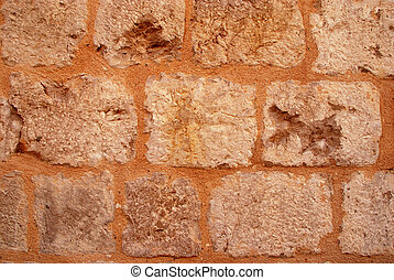 Old medieval stone wall background