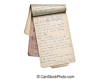 Old Memory Book or Diary