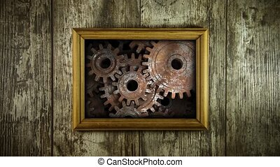 Old memory mechanism. Gears work like a clock.