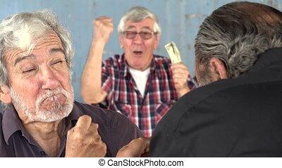 Old Men Boxing For Cash