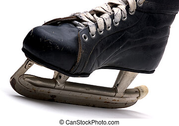 Mens Ice Skate - Old Mens Ice Skate (Isolated)