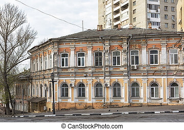 Old merchant's house in Saratov, Russia