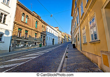 Old Mesnicka street in Zagreb upper town