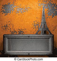 Old metal background