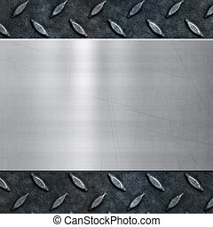 old metal background texture - old dirty and grungy diamond ...