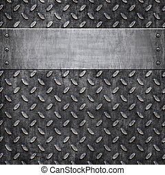 old metal background texture - old dirty and grungy diamond...