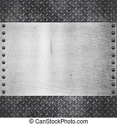 old dirty and grungy diamond plate metal background