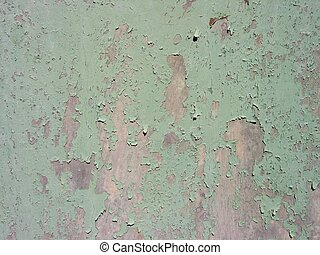 cracked paint - old metal door of wine cellar with cracked...