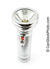 Old metal flashlight