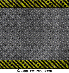 old metal hazard background