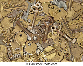 Old metal keys.
