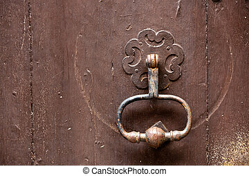 old metal knocker