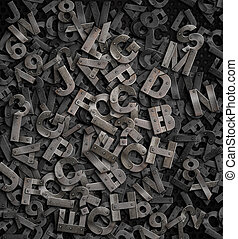 old metal letters background
