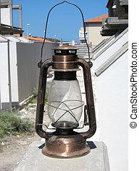 Old metal oil Lantern