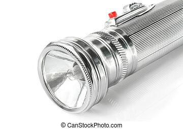 Old metal pocket flashlight