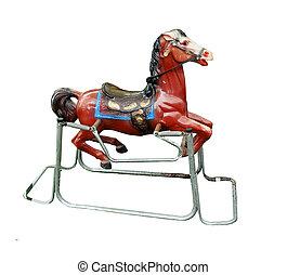 Old metal rocking horse