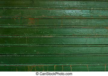 old metal wall, green