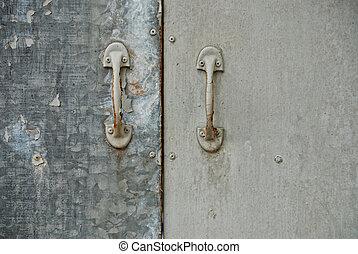 old metalic door