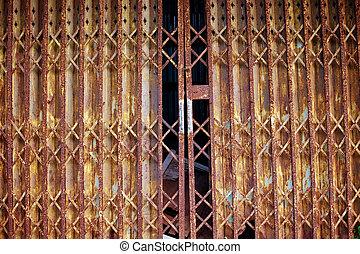 old metallic door