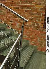 Old metallic stairs