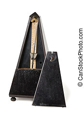Old Metronome Isolated on White