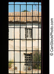 Old mica window in Provence